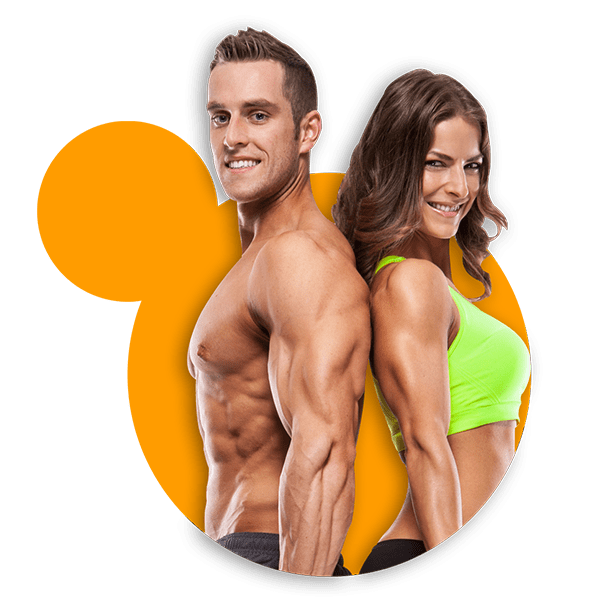 Young fit couple smilling