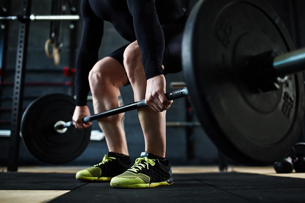Male lifting weight