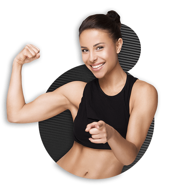 Young healthy woman, inviting to try HGH Supplements